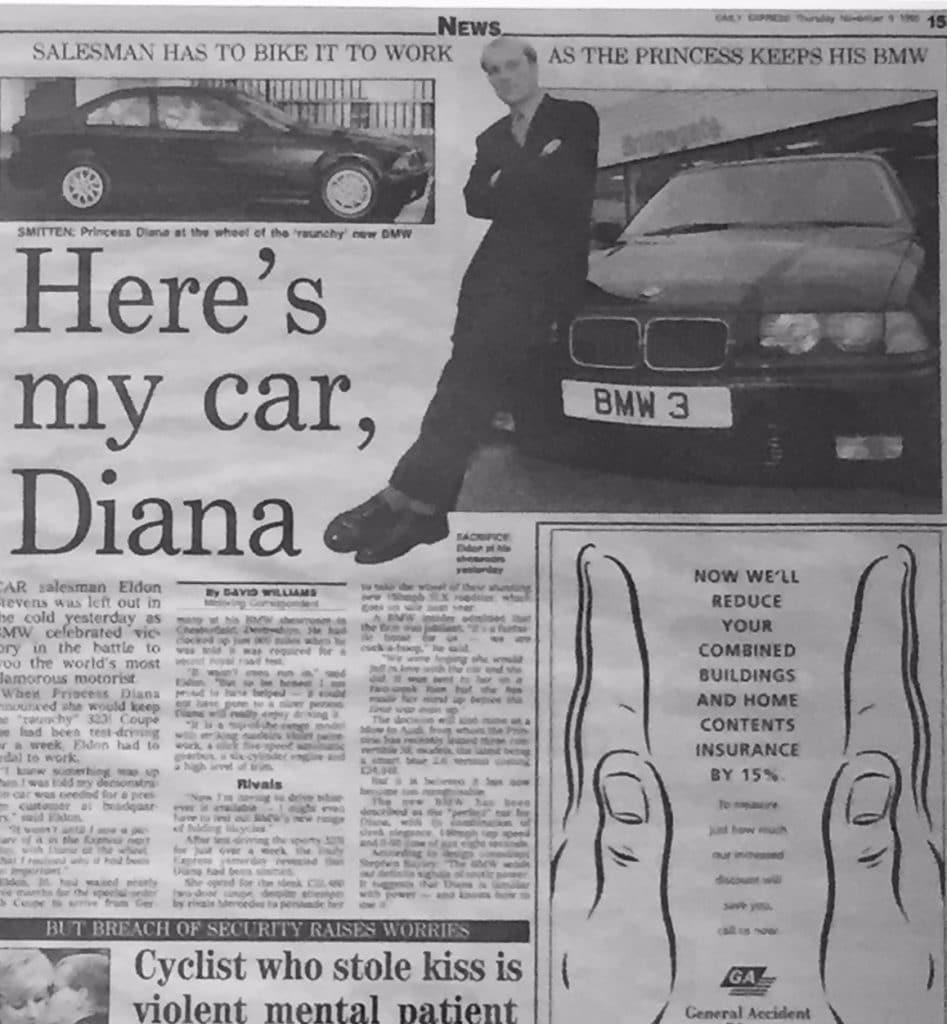 Princess Diana BMW